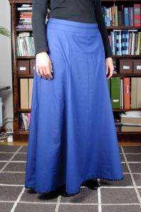 Blå testkjol