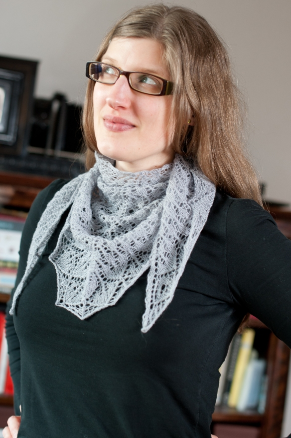 Draperad sjal